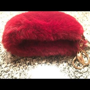 Accessories - Fuzzy red key holder